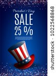 presidents' day sale banner... | Shutterstock .eps vector #1022568868