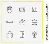 home appliances line icon set...   Shutterstock .eps vector #1022573254