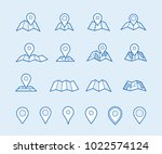 maps and geo pins. make your...   Shutterstock .eps vector #1022574124