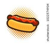 hot dog  fast food  takeaway...   Shutterstock .eps vector #1022574934