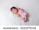 portrait of a sleeping  7 day... | Shutterstock . vector #1022579218