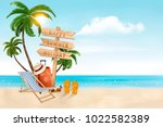 Seaside Vacation Vector. Trave...