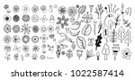hand drawn vintage floral... | Shutterstock .eps vector #1022587414