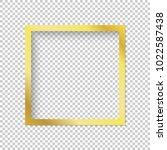 modern gold vector empty frame...   Shutterstock .eps vector #1022587438
