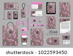 corporate identity template set.... | Shutterstock .eps vector #1022593450