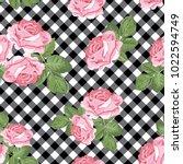 floral seamless pattern. pink...   Shutterstock .eps vector #1022594749