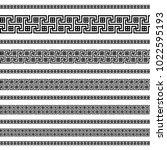 decoration patterns in black... | Shutterstock .eps vector #1022595193