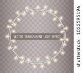 round frame of overlapping ... | Shutterstock .eps vector #1022595196