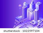 night city landscape. cityscape ... | Shutterstock .eps vector #1022597104