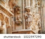 sculptures and details on the... | Shutterstock . vector #1022597290