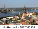 riga old town  latvia | Shutterstock . vector #1022600518