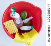 products for cleaning  ... | Shutterstock . vector #1022605144
