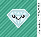 cute kawaii smiling diamond...   Shutterstock .eps vector #1022605528