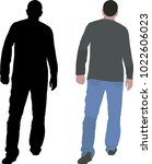 men walking away   vector... | Shutterstock .eps vector #1022606023