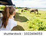 back view of adorable little... | Shutterstock . vector #1022606053