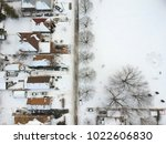 snow view from the top with... | Shutterstock . vector #1022606830