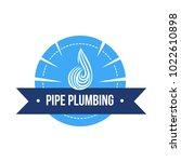 vector logo of plumbing service ...   Shutterstock .eps vector #1022610898
