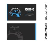 business card for plumbing... | Shutterstock .eps vector #1022610904