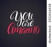 you are amazing. beautiful... | Shutterstock .eps vector #1022616418