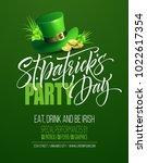 saint patricks day poster... | Shutterstock .eps vector #1022617354