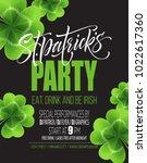 saint patricks day poster... | Shutterstock .eps vector #1022617360