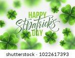 happy saint patricks day...   Shutterstock .eps vector #1022617393
