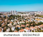 Aerial view from drone shot of Rishon LeZion, Israel