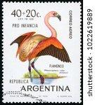 argentina   circa 1970  post... | Shutterstock . vector #1022619889