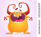 angry cartoon monster.... | Shutterstock .eps vector #1022626339