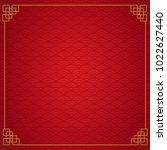 chinese frame background. red...   Shutterstock .eps vector #1022627440