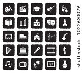 culture icons. grunge black... | Shutterstock .eps vector #1022630029
