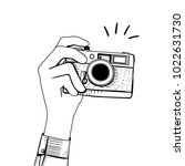 vector of vintage camera | Shutterstock . vector #1022631730