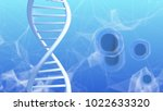 gene therapy and genetic... | Shutterstock . vector #1022633320