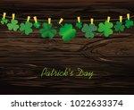 petals of decorative clover...   Shutterstock .eps vector #1022633374