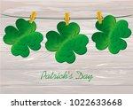 petals of decorative clover...   Shutterstock .eps vector #1022633668