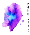 colorful abstract watercolor... | Shutterstock .eps vector #1022634424