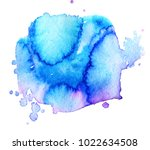 colorful abstract watercolor... | Shutterstock .eps vector #1022634508