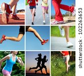 collage of photos of the feet... | Shutterstock . vector #102263653