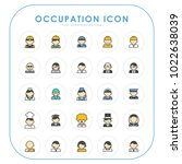 occupation icons 01 | Shutterstock .eps vector #1022638039