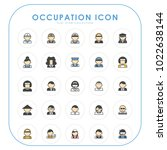 occupation icons 02 | Shutterstock .eps vector #1022638144