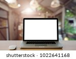 conceptual workspace empty... | Shutterstock . vector #1022641168