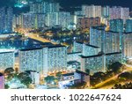 aerial view of residential... | Shutterstock . vector #1022647624