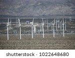 windmills in coachella valley   Shutterstock . vector #1022648680
