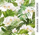 vector botanical seamless... | Shutterstock .eps vector #1022656924