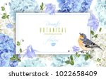 vector horizontal banner with... | Shutterstock .eps vector #1022658409