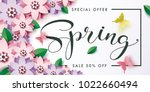 illustration of spring sale... | Shutterstock .eps vector #1022660494