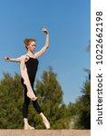 young graceful ballerina...   Shutterstock . vector #1022662198
