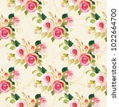 seamless floral pattern with... | Shutterstock .eps vector #1022664700