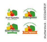 fresh vegetables logo design... | Shutterstock .eps vector #1022665819