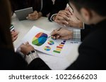 a group of business men and... | Shutterstock . vector #1022666203
